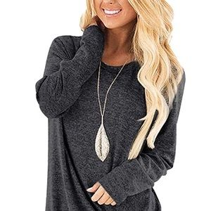 Tops - New Casual Solid Twist Knot Tunic Top